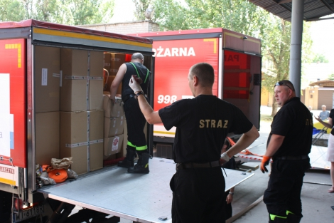 A truck with Polish humanitarian aid to Donbas. Photo: nbnews.com.ua/ua/news/152914