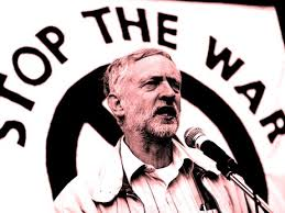 Jeremy Corbyn at a Stop the War UK rally