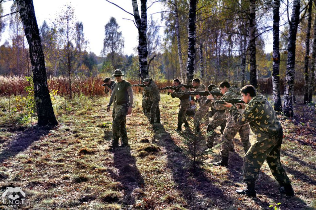 At a mercenary training camp for Russia's war in Ukraine. Moscow oblast, Russia, September 2015 (Image: ENOT Corp.)