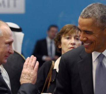 Putin and Obama at G20 meeting