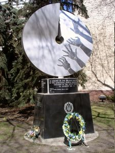 A Holodomor monument in Edmonton, Canada (Image: Wikipedia)