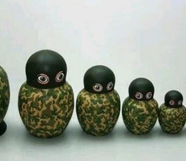Hybrid war matryoshka dolls