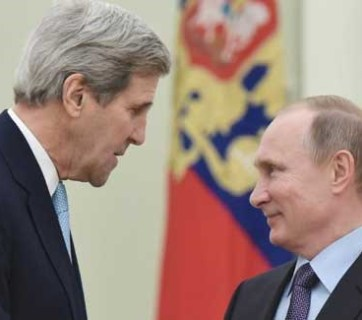 John Kerry and Putin, December 15, 2015 in Moscow