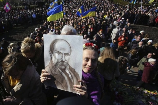 Taras Shevchenko, a 19th century poet, is a unifying figure for Ukraine