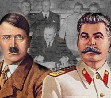 Hitler and Stalin united forces for invading Europe in the signing of the Molotov-Ribbentrop Pact