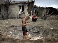 Devastation in the Donbas, Ukraine brought by the Russian military aggression (Image: znak.com)