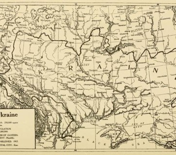 The map which was part of the 1920 Memorandum to the Government of the United States on the Recognition of the Ukrainian People's Republic established in 1917. (Source: Project Gutenberg)