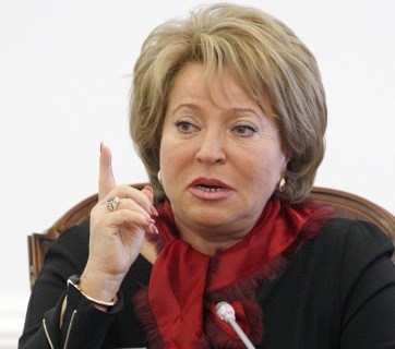 Valentina Matviyenko, Speaker of Russia's Federation Council (Image: nahnews.org)