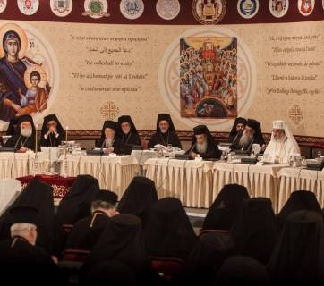 Orthodox Patriarchs sat at the opening session of the Holy and Great Council in Crete. Photo: fb.com/HGCPress