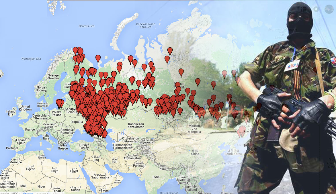 Interactive Map Shows Origins Of Russian Mercenaries