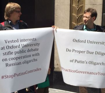 Illia Zaslavskiy (right) at a protest action on 11 May 2016. Photo: courtesy