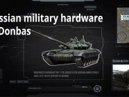 A modernized version of the T72B Russian tank, used against the Ukrainian forces in the Donbas, was never supplied to Ukraine and could only come from Russia (Image: snapshot from Informnapalm video)