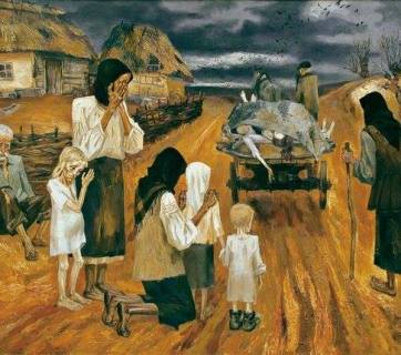 Holodomor (Ukrainian famine-genocide 1932-1933) painting by Nina Marchenko