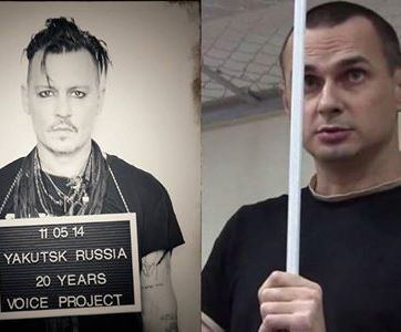 Hollywood star Johnny Depp became the face of the international campaign Imprisoned for Art on behalf of Oleg Sentsov.
