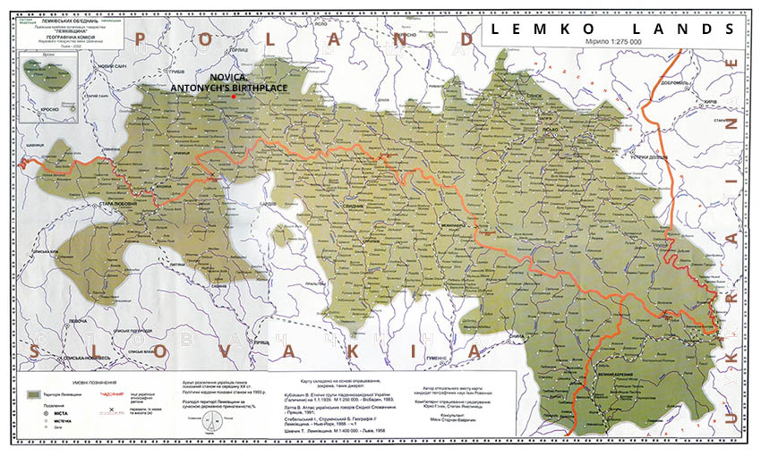 Lemkos lived on the territories of modern Slovakia, Poland, and Ukraine