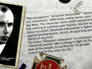 "From Stepan BANDERA's interview to Cologne (Germany) Radio Station in 1954: The conceptions ""Ukrainian nationalist,"" ""nationalistic movement,"" differ from similar terms used in the West. The Ukrainian nationalistic movement has nothing in common with Nazism, fascism or national-socialism. Ukrainian nationalism is fighting against totalitarianism, racism, dictatorship and violence of any kind.   The name ""Ukrainian nationalist"" is consonant with ""Ukrainian patriot"" who is ready to fight for freedom of his people, to sacrifice for his people everything he has, even his life."""