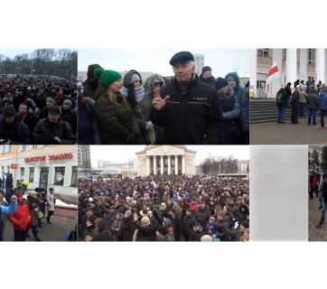 Regional demonstrations in Belarus in February, 2017 (Image: svaboda.org)
