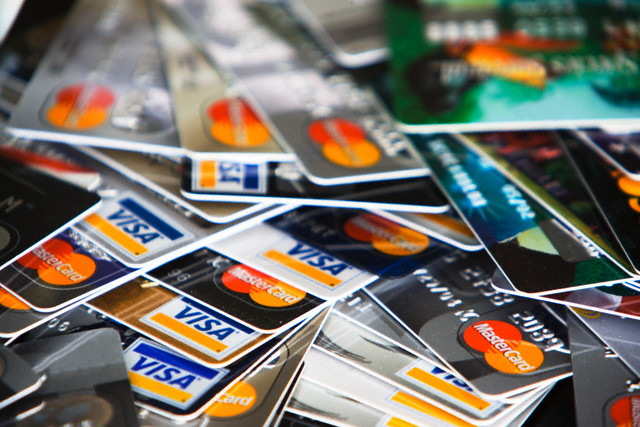 Pile of Credit Cards --- Image by © Alan Schein Photography/Corbis