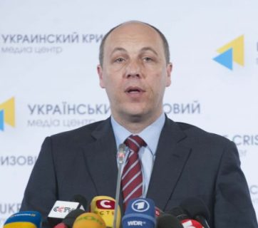 Verkhovna Rada Speaker Andriyi Parubiy. Archival photo