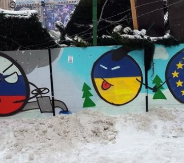 A graffiti seen during the Euromaidan protests in Kyiv in winter of 2013-2014. Photo: segodnya.ua