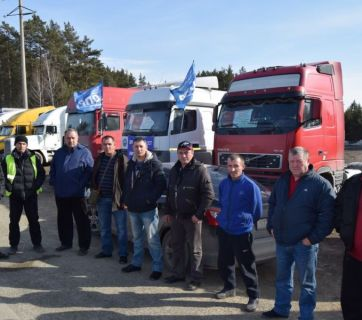 Long-haul trucker strike in Russia. April 2017 (Image: bison-info.pro)