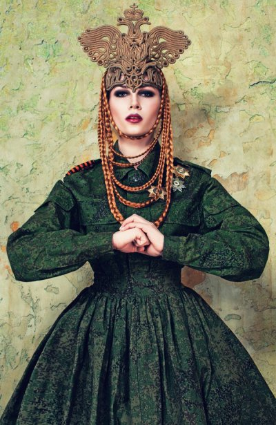 «The Renaissance» by Russian designer Kirill Mintsev uses militaristic and imperialistic motifs (Image: social media)
