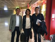 Left to right: Councilors Hubert Fayard, Christiane Pujol, Christian Borelli from the Bouches-du-Rhône county, southern France, who are going to illegally visit the occupied territories in the east of Ukraine. Photograph: FB christiane.pujol.1