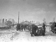 Soviet troops enter defeated Viipuri, Finland, ceded to the USSR as a result of Stalin's aggressive Winter War. The city now is called Vyborg. The Winter War, 1940