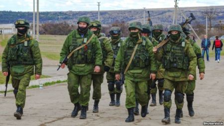 """Little green men"" occuupying Crimea, March 2014"