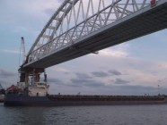 The Kerch strait bridge. Photo: snapshot from video