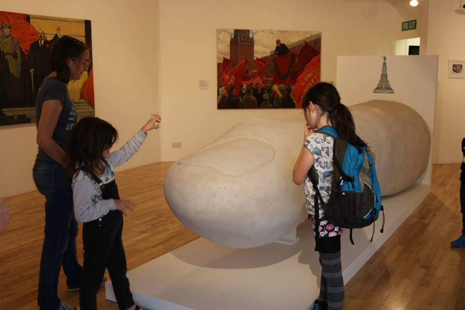 The finger of Lenin at the exhibition. Courtesy photo