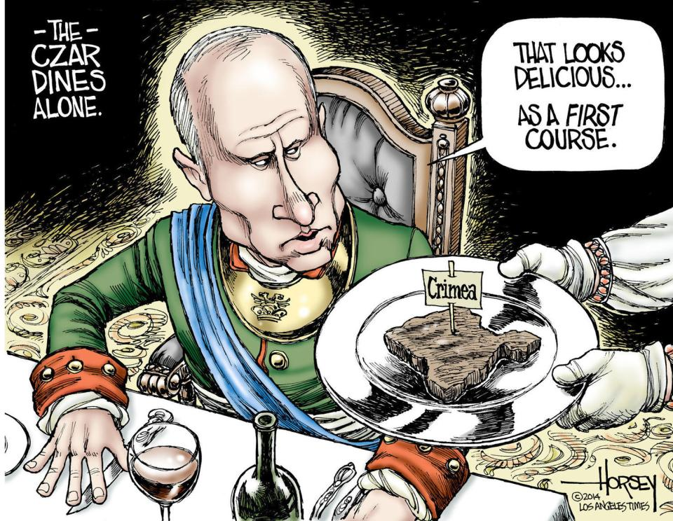 Cartoon by David Horsey, 2014