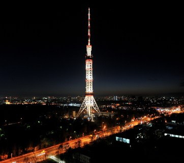 TV tower in Kyiv Photo provided by the Public Broadcasting Company of Ukraine