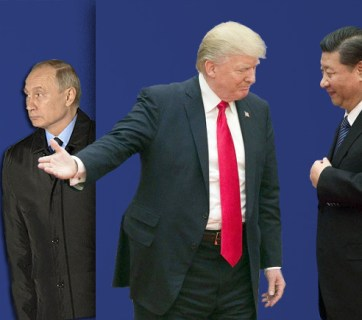 Russian president Putin, American president Trump and Chinese president Si (Image: rosbalt.ru)