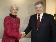 IMF Managing Director Christine Lagarde (L) and Ukraine's President Petro Poroshenko (R) at the 48th World Economic Forum. 24 January 2018, Davos, Switzerland. Source: president.gov.ua