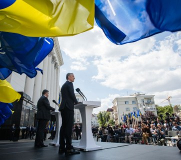During the visit of NATO Secretary General Jens Stoltenberg to Ukraine on 10 July 2017. Photo: president.gov.ua
