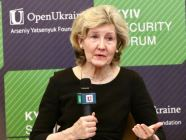 Kay Bailey Hutchison, Ambassador, U.S. Permanent Representative to NATO, speaking at the Kyiv Security Forum 2018. Photo: twitter.com/USAmbNATO