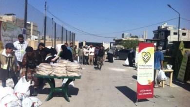 Photo of بدء المرحلة الأخيرة من توزيع المساعدات على الأهالي المنكوبين في مجمع الفيحاء الرياضي