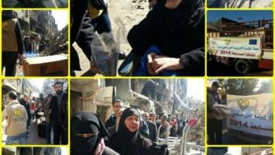 Photo of لليوم السابع على التوالي تستمر حملة الوفاء بالعطاء لأهالي مخيم اليرموك