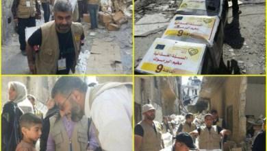 Photo of القافلة التاسعة لحملة الوفاء تدخل الى اليرموك