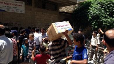 "Photo of حملة ""الوفاء"" اﻷوروبية تدخل يلدا وتوزع مساعدات"