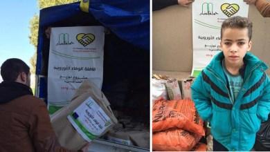 Photo of حملة الوفاء الاوربية بالتعاون مع حملة البنيان بتوزيع ما يقارب 200 مدفئة و600 كيس من الحطب