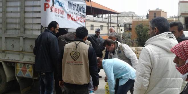 لليوم الثاني تواصل حملة الوفاء تقديم المساعدات للنازحين في البقاع اللبناني