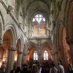 inside rosslyn chapel  looking towards the altar