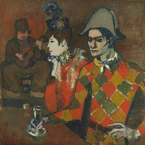 """Picasso's """"At the Lapin Agile"""" from the Metropolitan Museum of Art"""