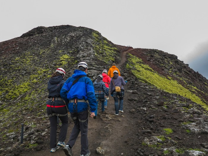 Last few steps to mouth of the crater