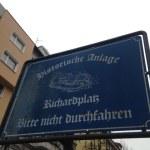 Welcome Sign to Richardplatz in Rixdorf