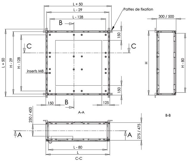 armoires coffrets polyester euro medium plan
