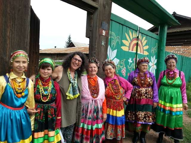 Women in folk dresses