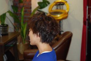 タンニンパーマで髪にハリコシ